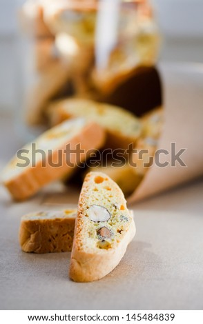 Italian cookies - biscotti  - stock photo