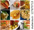 Italian cuisine - collage - stock photo