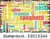 Italian Cuisine Food Menu in a Restaurant - stock vector