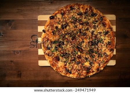 Italian delicious pizza - stock photo