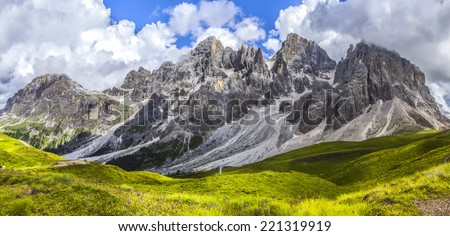 Italian Dolomites: Pale di San Martino - stock photo