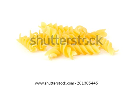Italian egg pasta isolated on white background - stock photo