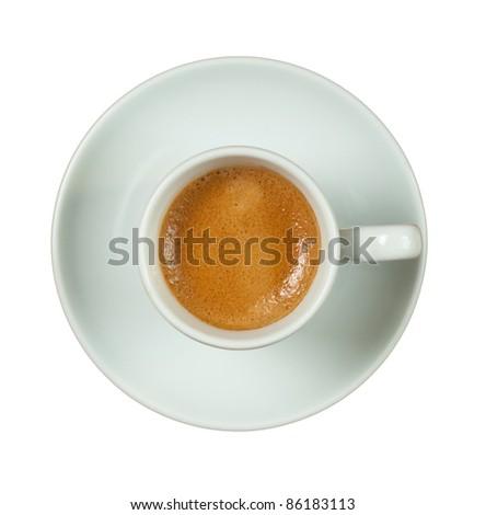Italian espresso cup. - stock photo