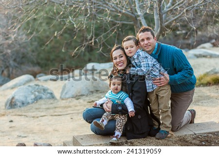 Italian family enjoying a day at the park together -- taken at San Rafael Park in Reno, Nevada, USA