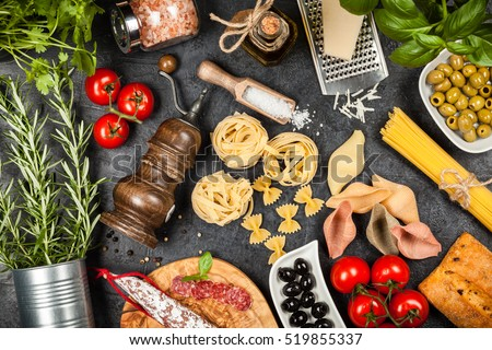 Italian food ingredients foto de stock libre de regalas519855337 italian food ingredients foto de stock libre de regalas519855337 shutterstock forumfinder Images