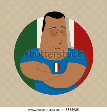 Italian football player  - stock photo