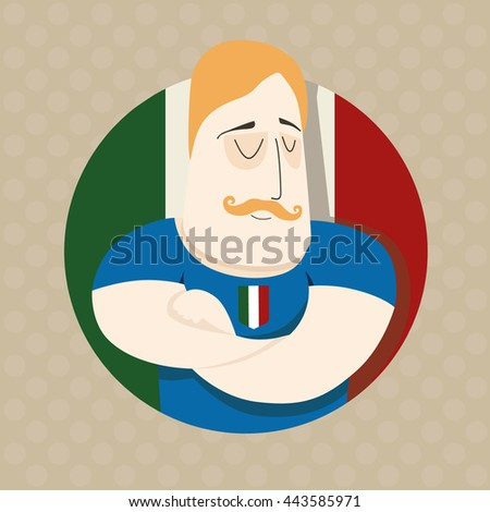 Italian football player  - stock photo