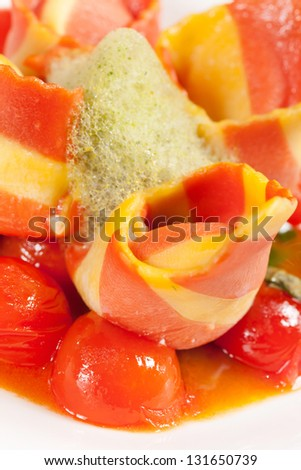Italian ham with vegetables
