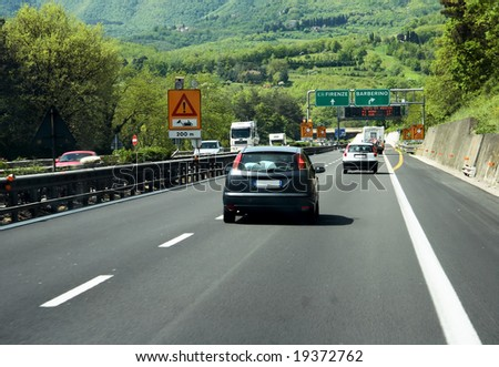 Italian highway - stock photo