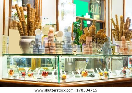 Italian ice cream bar - stock photo