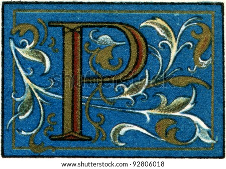 "Italian initials. Publication of the book ""Meyers Konversations-Lexikon"", Volume 7, Leipzig, Germany, 1910 - stock photo"
