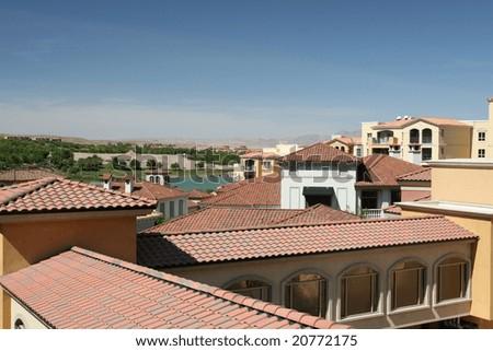 Italian Inspired Resort - stock photo