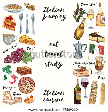Italian journey cuisine food culture language stock for Avventura journeys in italian cuisine