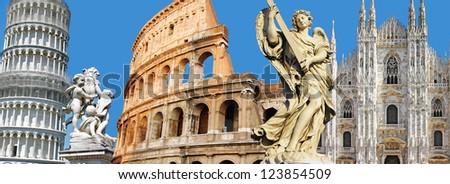 Italian landmarks - stock photo