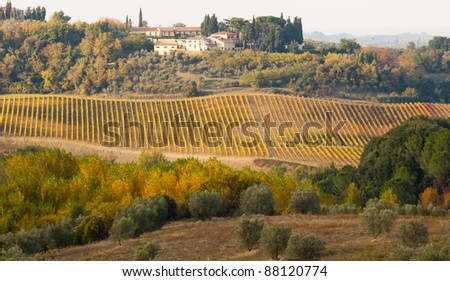 Italian landscape in autumn