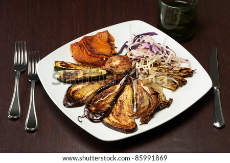 italian mix grilled vegetables - stock photo