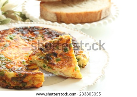 Italian omelete, Frittata - stock photo