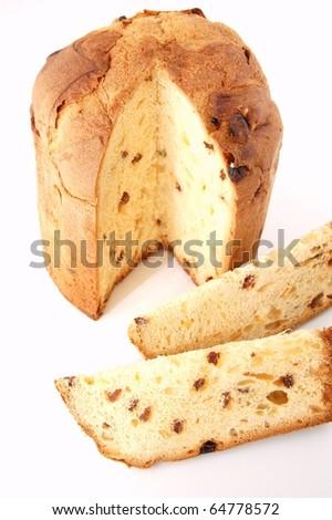 Italian panettone - stock photo