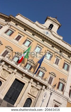 Italian Parliament in Rome, Italy - stock photo
