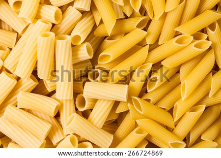 italian pasta, background texture - stock photo