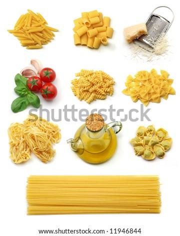 Italian pasta collection - stock photo