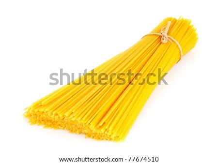 Italian pasta, on white background - stock photo