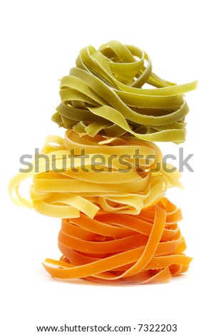 Italian pasta tagliatelle - stock photo