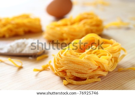 Italian Pasta Tagliatelle - stock photo