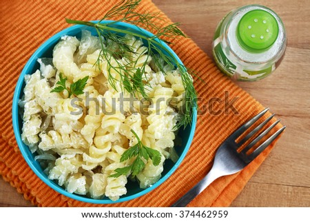 Italian pasta with cheese - stock photo