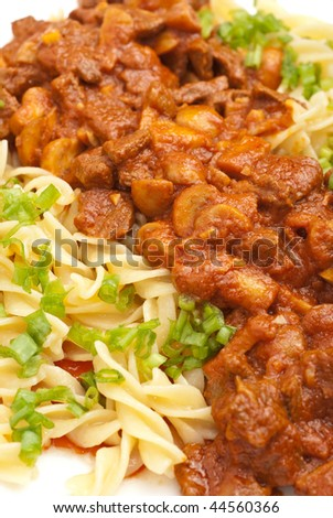 italian pasta with meat