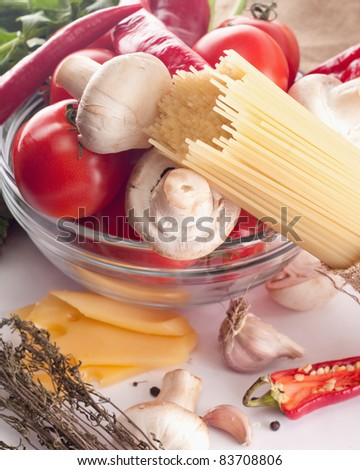 Italian Pasta with tomatoes