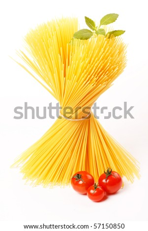 Italian Pasta with tomatoes and basil