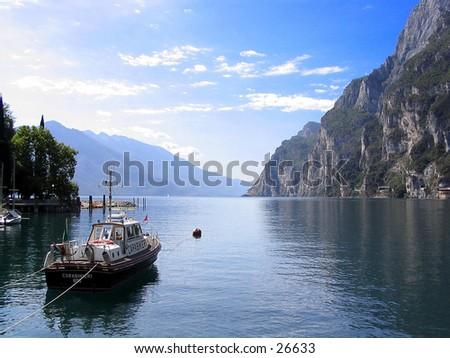 Italian police boat  - stock photo