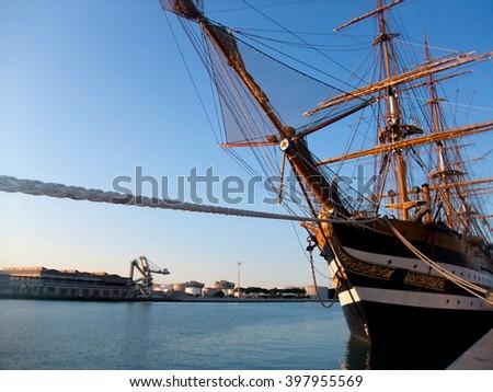 italian sailing ship - stock photo