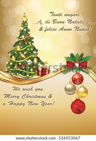 Italian seasons greetings winter holiday greeting stock illustration italian seasons greetings winter holiday greeting card merry christmas and happy new year m4hsunfo