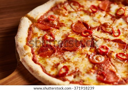 Italian Sliced Pepperoni Pizza Ready to Eat
