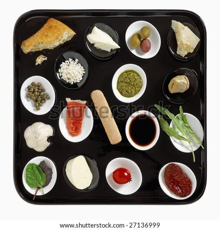 italian snacks - stock photo