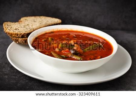 Italian soup with veggies. - stock photo