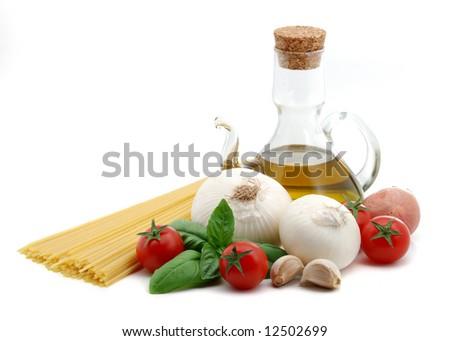 Italian spaghetti - stock photo