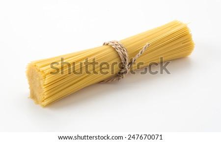 Italian spaghetti pasta dried food - stock photo