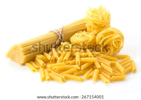 Italian spaghetti pasta dried food - stock photo