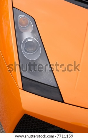 Italian sports car in orange - stock photo