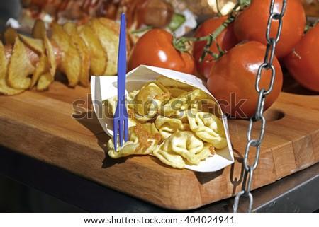 Italian street food - stock photo