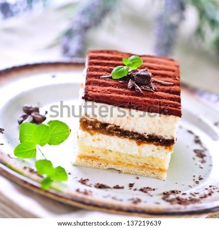 italian tiramisu - stock photo
