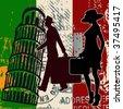 Italian Travel Background - stock photo