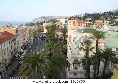 Italy. A resort of San Remo. A casino - stock photo