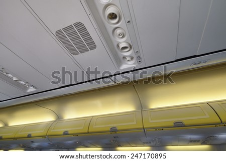 Italy, airplane cabin
