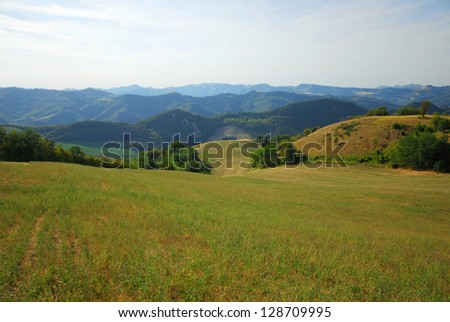 Italy, Apennines hills near Modigliana, Romagna - stock photo