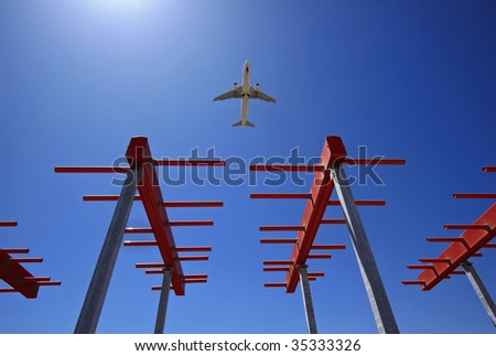 ITALY, Bari, international airport, flight sensors - stock photo