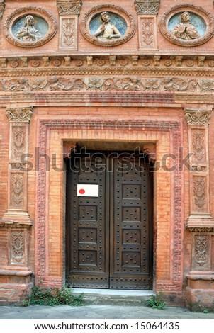 Italy. Bologna Holy Spirit oratory door - stock photo